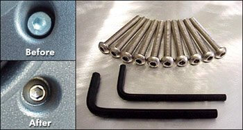 Stainless Steel Dash Bolt Set