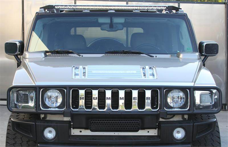 Predator inc hummer h2 50 led light bar single h2 led light bar aloadofball Image collections