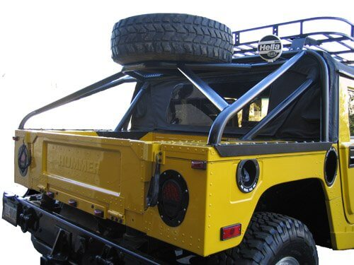 Slant Back Tire Carrier